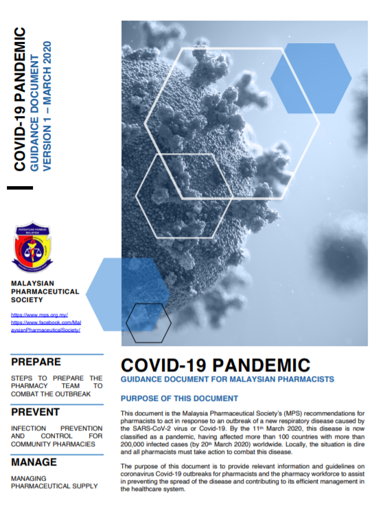 COVID-19 Pandemic Guidance Document Version 1 (March 2020)